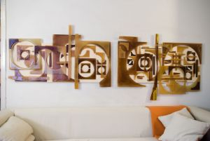 | mural  caramelo Gascon 2010- vidrio sobre madera [0.70x2.20]