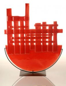 | escultura roja sobre hierro 2008 [0.50x0.45]
