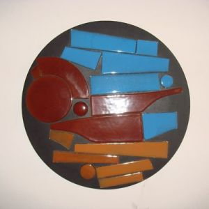 | otoño vidrio sobre madera 2009 [0.40 diam ]