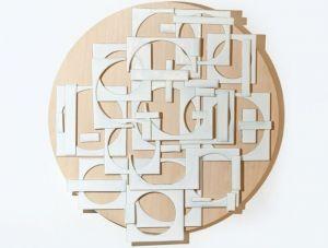 | trama cuadrados 2014 – vidrio sobre madera [1.0 diam ]
