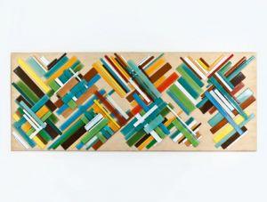 | trama color 2012 vidrio sobre madera [0.80x2.00]