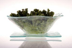 | Set ensaladero con plato 25x25 cm aprox COD:0413