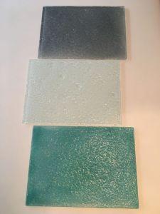   Laja de vidrio texturado 20x30 cm COD:0224
