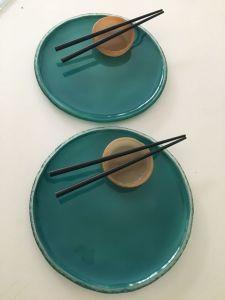    Plato circular chato 26diam Dip organico