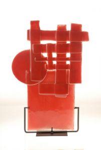 | ecsultura roja sobre base hierro 2008 [0.25x0.45]